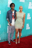 Wiz Khalifa; Amber Rose arriving at the 2012 MTV Movie Awards Royalty Free Stock Photos
