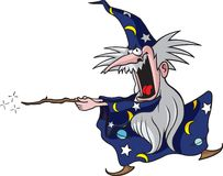 Wizard 1. Cartoon Wizard. Vector and high resolution jpeg files available Royalty Free Stock Photos