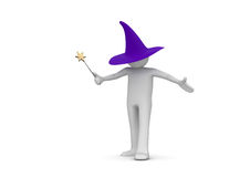 Wizard. 3d isolated characters on white background series Stock Photos