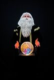 Wizard. With a crystal ball Royalty Free Stock Photos