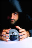 Wizard. And his Crystal Ball - Waiting for your Future royalty free stock images