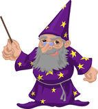 Wizard. A friendly wizard stock illustration
