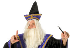 Wizard. For the future isolated over white royalty free stock photos