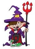 Wizard boy. Illustration of a cute wizard boy stock illustration