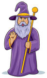 Wizard. Cartoon illustration of a wizard Royalty Free Stock Photos