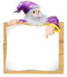 Wizard Character Sign Royalty Free Stock Photos