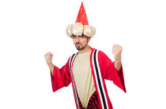 Wizard in costume Stock Images