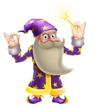 Wizard doing perfect gesture Royalty Free Stock Photos