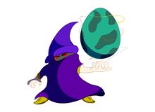 Wizard with Dragon egg Royalty Free Stock Image
