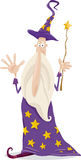 Wizard fantasy cartoon illustration Royalty Free Stock Photos