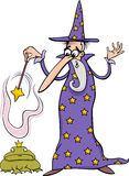 Wizard fantasy cartoon illustration Royalty Free Stock Image