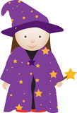Wizard girl Stock Image