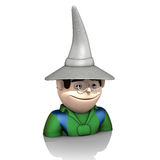 Wizard with hat on white background Royalty Free Stock Photography