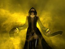 Wizard human female. 3d render of a female wizard Royalty Free Stock Photos