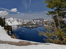 Wizard Island on beautiful Crater Lake Stock Images