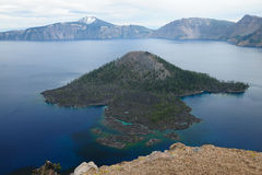 Wizard Island in crater lake royalty free stock image