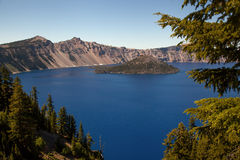 Wizard Island Crater Lake stock image