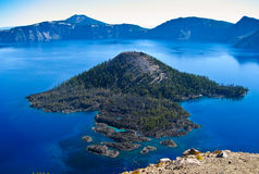 Wizard Island, Crater Lake National Park, Oregon Royalty Free Stock Image