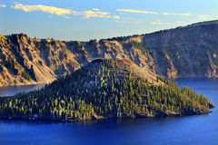 Wizard Island Crater Lake National Park Oregon Royalty Free Stock Photo