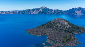 Wizard island, Crater Lake Stock Images