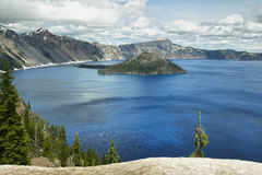 Wizard Island on Crater Lake Royalty Free Stock Photos