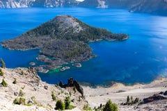 Wizard Island, Crater Lake, Oregon Royalty Free Stock Image
