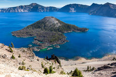 Wizard Island, Crater Lake, Oregon Stock Photos