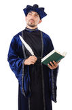 Wizard. Isolated on the wise background royalty free stock image