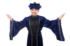 Wizard. Isolated on the wise background stock photos
