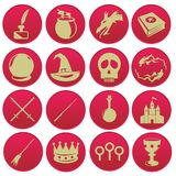 Wizard magic icon set Royalty Free Stock Images
