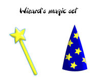 Wizard magic set Stock Photo