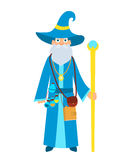 Wizard with a magic stick Royalty Free Stock Photography
