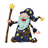 Wizard With Magic Wand Stock Image