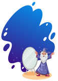 A wizard beside the mirror Stock Image