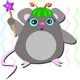 Wizard Mouse with Star Wand Royalty Free Stock Photos