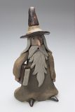 Wizard ornament. Study of a wizard minature Stock Photography