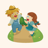 The Wizard of Oz cartoon theme elements Stock Photos