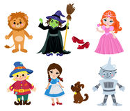 Wizard of Oz, Collection illustration cartoon. Stock Photo