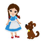 Wizard of Oz. Dorothy and her puppy. Royalty Free Stock Photos