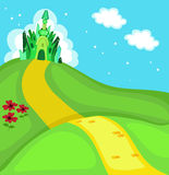 Wizard of Oz. Emerald city square. Illustration. Stock Photos