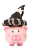 Wizard piggy bank Stock Photos