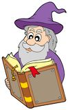 Wizard reading magic book Royalty Free Stock Photos