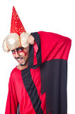 Wizard in red costume Stock Photo