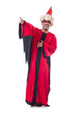 Wizard in red costume Royalty Free Stock Photos