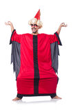 Wizard in red costume Royalty Free Stock Images