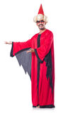 Wizard in red costume Stock Photos