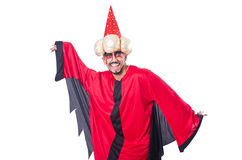 Wizard in red costume Royalty Free Stock Image