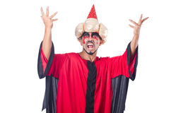 Wizard in red costume Royalty Free Stock Photo