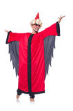 Wizard in red costume Stock Photography