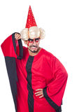 Wizard in red costume Royalty Free Stock Photography